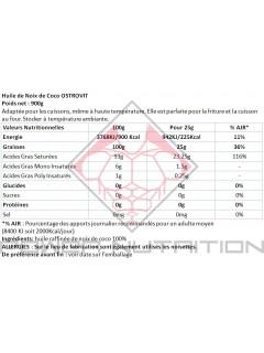 100% HUILE DE COCO OSTROVIT OSTROVIT Huiles saines Power Nutrition