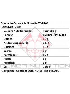 CRÈME DE CACAO NOISETTE STEVIA TORRAS TORRAS À tartiner Power Nutrition