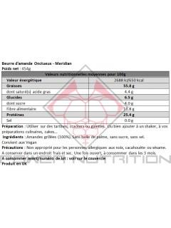 BEURRE DE CACAHUÈTE MERIDIAN MERIDIAN Beurres de noix Power Nutrition