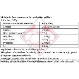 BEURRE CACAHUÈTE McMANI MAX PROTEIN MAX PROTEIN Beurres de noix Power Nutrition