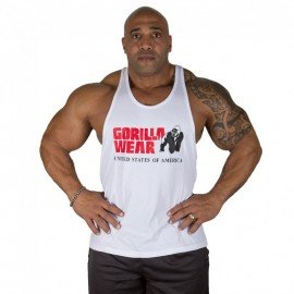 CLASSIC TANK TOP BLANC GORILLA WEAR GORILLA WEAR Hommes Power Nutrition