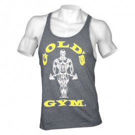 Gold Gym Muscle Joe Premium Stringer Gris Doré
