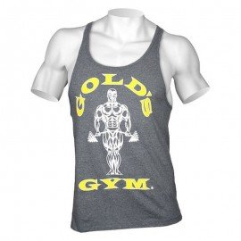 STRINGER MUSCLE JOE PREMIUM GOLD'S GYM GRIS / DORE GOLD'S GEAR Hommes Power Nutrition