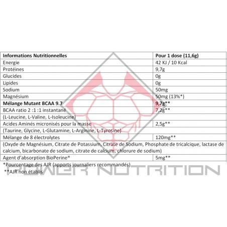 BCAA 9.7 MUTANT 30 DOSES MUTANT BCAA  Power Nutrition