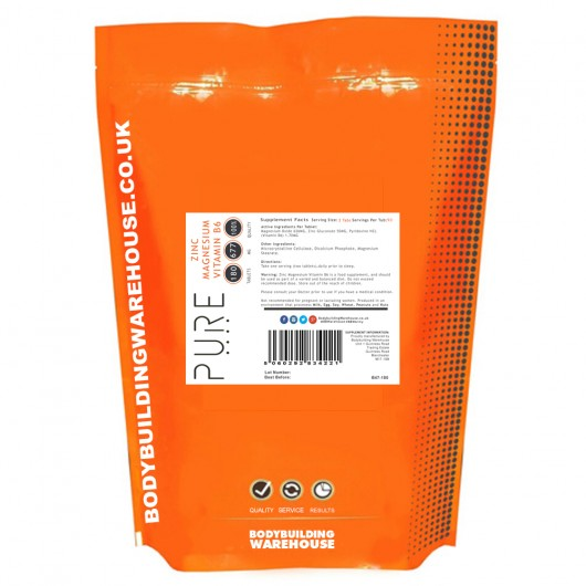 PURE ZINC MAGNESIUM B6 BBW BODYBUILDING WAREHOUSE (BBW) Booster de Testostérone Power Nutrition