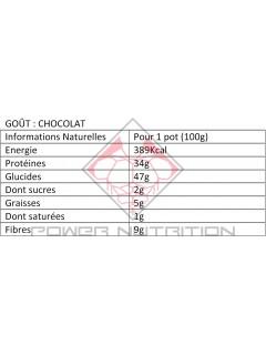 Valeurs nutritionnelles Porridge Feel Free Chocolat