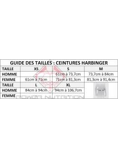 Guide des Tailles Ceintures Harbinger
