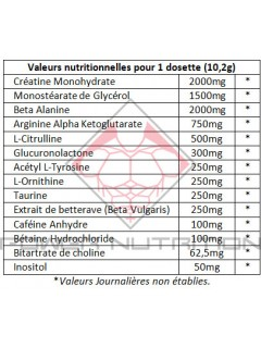 Dr Jekyll Pro Supps valeur nutritionelles