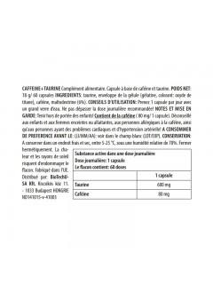 cafeine + taurine biotech usa valeurs nutritionnelles