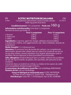 BCAA 6400 Scitec Nutrition valeurs nutritionelles