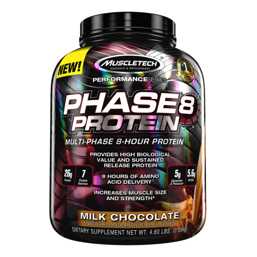 PHASE 8 MUSCLETECH 2KG MUSCLETECH Caséine & Multi Protéines Power Nutrition