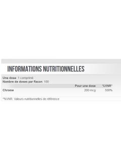 informations nutritionnelles chromium picolinate