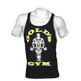 STRINGER MUSCLE JOE PREMIUM GOLD'S GYM NOIR / DORE GOLD'S GEAR Hommes Power Nutrition