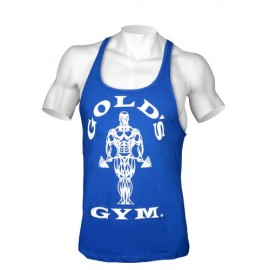 Tank Muscle Joe Premium Gold Gym Bleu Royal
