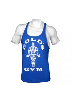 Tank Muscle Joe Premium Gold Gym Bleu Royal
