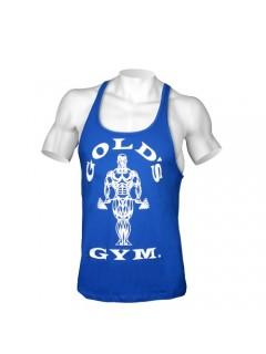 STRINGER MUSCLE JOE PREMIUM GOLD'S GYM BLEU ROYAL GOLD'S GEAR Hommes Power Nutrition