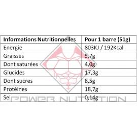 18 X BARRES BOUNTY PROTEIN MARS Barres protéinées Power Nutrition