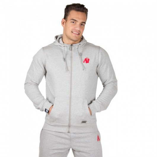 SWEAT ZIPPÉ CLASSIC GRIS GORILLA WEAR GORILLA WEAR Hommes Power Nutrition
