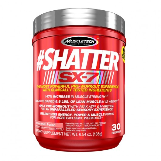 SHATTER SX-7 MUSCLETECH 30 DOSES MUSCLETECH Energie & Concentration Power Nutrition