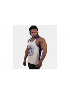 ROSWELL TANK TOP GRIS/BLEU GORILLA WEAR GORILLA WEAR Hauts Power Nutrition