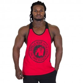 ROSWELL TANK TOP ROUGE/NOIR GORILLA WEAR GORILLA WEAR Hauts Power Nutrition