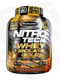 NITROTECH WHEY + ISOLATE GOLD MUSCLETECH 1,8kg MUSCLETECH Whey Protéine Isolate Power Nutrition