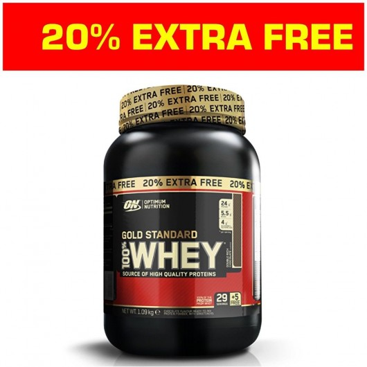GOLD STANDARD 100% WHEY 908g + 20% FREE ON OPTIMUM NUTRITION Whey Protéine Power Nutrition