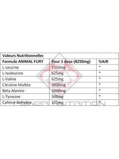 ANIMAL FURY 20 DOSES ANIMAL by Universal Nutrition Congestion & Volume Power Nutrition