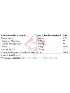 MgZB ZMA OSTROVIT OSTROVIT Vitamines et minéraux Power Nutrition