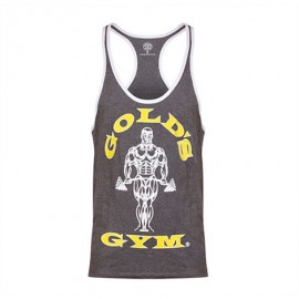 STRINGER JOE CONTRAST GOLD'S GYM GRIS / BLANC GOLD'S GEAR Hommes Power Nutrition