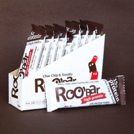 BARRES ROO'BAR PROTEIN 60g x 10 ROO BARS Energie Power Nutrition