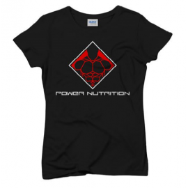 TEE SHIRT FEMME NOIR POWER NUTRITION POWER NUTRITION Femmes Power Nutrition