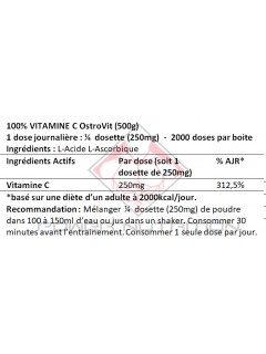 100% VITAMINE C PURE OSTROVIT OSTROVIT Vitamines et minéraux Power Nutrition
