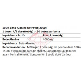 100% BETA ALANINE PURE OSTROVIT OSTROVIT Acides Aminés Power Nutrition