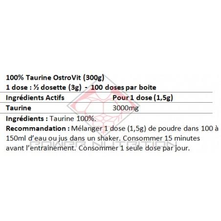 100% TAURINE PURE OSTROVIT OSTROVIT Acides Aminés Power Nutrition