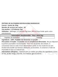 PEPTIDES DE GLUTAMINE POUDRE BBW BODYBUILDING WAREHOUSE (BBW) Glutamine Power Nutrition