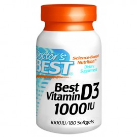VITAMINE D3 1000IU DOCTORS BEST DOCTOR'S BEST Vitamines et minéraux Power Nutrition