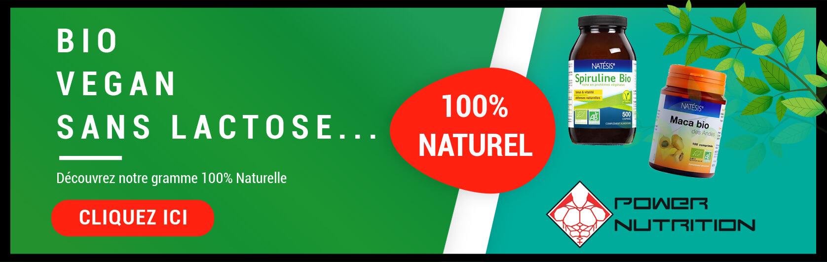 Bannière 100% Naturel